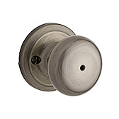 Hancock Privacy/Bed/Bath Door Knobs, Antique Brass 730H 5 | Kwikset Door Hardware