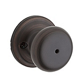 Juno Privacy/Bed/Bath Door Knobs, Venetian Bronze 730J 11P | Kwikset Door Hardware