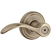 Pembroke Privacy/Bed/Bath Door Levers, Antique Brass 730PML 5 | Kwikset Door Hardware