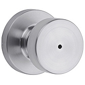 Pismo Privacy/Bed/Bath Door Knobs, Satin Chrome 730PSK RDT 26D | Kwikset Door Hardware