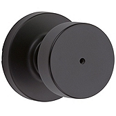 Pismo Privacy/Bed/Bath Door Knobs, Iron Black 730PSK RDT 514 | Kwikset Door Hardware