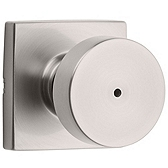 Pismo Privacy/Bed/Bath Door Knobs, Satin Nickel 730PSK SQT 15 | Kwikset Door Hardware
