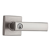 Vedani Keyed Entry Door Levers, Satin Nickel 740VDL 15 SMT | Kwikset Door Hardware