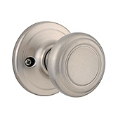 Cameron Inactive/Dummy Door Knobs, Satin Nickel 788CN 15 | Kwikset Door Hardware