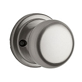 Hancock Inactive/Dummy Door Knobs, Satin Nickel 788H 15 | Kwikset Door Hardware