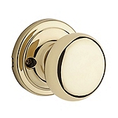 Hancock Inactive/Dummy Door Knobs, Polished Brass 788H 3 | Kwikset Door Hardware