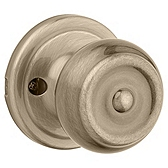 Phoenix Inactive/Dummy Door Knobs, Antique Brass 788PE 5 | Kwikset Door Hardware