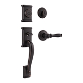 Ashfield Single Cylinder Handlesets, Venetian Bronze 800ADHXADL 11P SMT | Kwikset Door Hardware