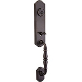 Amherst Double Cylinder Handlesets, Venetian Bronze 801AT LIP 11P SMT | Kwikset Door Hardware