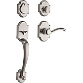 Austin Single Cylinder Handlesets, Satin Nickel 800AUHXAUL 15 SMT | Kwikset Door Hardware