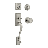 Hawthorne Single Cylinder Handlesets, Satin Nickel 800HEXCN 15 SMT | Kwikset Door Hardware