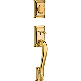 Ashfield Handlesets, Lifetime Polished Brass 802ADH LIP L03 | Kwikset Door Hardware