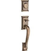 Ashfield Inactive/Dummy Handlesets, Antique Brass 802ADH LIP 5 | Kwikset Door Hardware