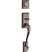 Hawthorne Handlesets, Antique Nickel 802HE LIP 15A | Kwikset Door Hardware
