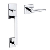 San Clemente Handlesets, Polished Chrome 815SCEXHFL 26 | Kwikset Door Hardware