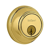 Key Control Deadbolt , Polished Brass 816 3 SMT | Kwikset Door Hardware