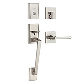 Camino Single Cylinder Handlesets, Satin Nickel 818CMHXHFL 15 SMT | Kwikset Door Hardware