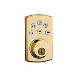 Powerbolt 2  , Polished Brass 907-2 3 SMT | Kwikset Door Hardware