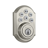 SmartCode Deadbolt  , Satin Nickel 909 15 SMT | Kwikset Door Hardware