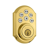 SmartCode Deadbolt , Lifetime Polished Brass 909 L03 SMT | Kwikset Door Hardware
