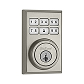 Contemporary SmartCode Deadbolt  , Satin Nickel 909CNT 15 SMT | Kwikset Door Hardware