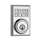 Contemporary SmartCode Deadbolt  , Polished Chrome 909CNT 26 SMT | Kwikset Door Hardware