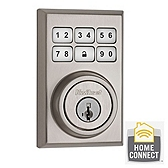 910 SmartCode Contemporary Electronic Deadbolt with Zigbee - Satin Nickel
