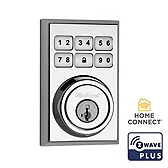 Contemporary SmartCode Deadbolt with Home Connect  , Polished Chrome 910CNT ZW500 26 SMT | Kwikset Door Hardware