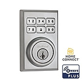 Contemporary SmartCode Deadbolt with Home Connect  , Satin Chrome 910CNT ZW500 26D SMT | Kwikset Door Hardware