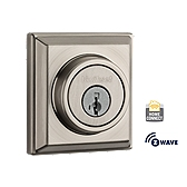 Contemporary Deadbolt with Home Connect  , Satin Nickel 910 S CNT ZW 15 SMT | Kwikset Door Hardware