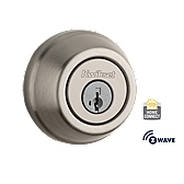 Traditional Deadbolt with Home Connect , Satin Nickel 910 S TRL ZW 15 SMT | Kwikset Door Hardware