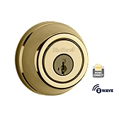 Traditional Deadbolt with Home Connect, 1st Gen  , Lifetime Polished Brass 910 S TRL ZW L03 SMT | Kwikset Door Hardware