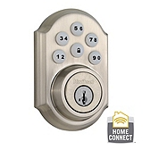 910 SmartCode Traditional Electronic Deadbolt with Zigbee - Satin Nickel
