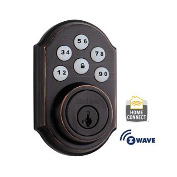 smartcode deadbolt with home connect venetian bronze 910trl zw 11p smt kwikset door hardware - Wifi Deadbolt