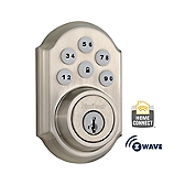 SmartCode Deadbolt with Home Connect  , Satin Nickel 910TRL ZW 15 SMT | Kwikset Door Hardware