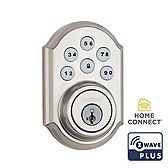 SmartCode Deadbolt with Home Connect , Satin Nickel 910TRL ZW500 15 SMT | Kwikset Door Hardware