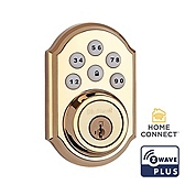 SmartCode Deadbolt with Home Connect , Lifetime Polished Brass 910TRL ZW500 L03 SMT | Kwikset Door Hardware
