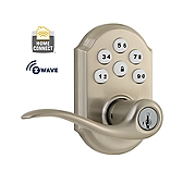 SmartCode Lever with Home Connect , Satin Nickel 912TNL TRL ZW 15 SMT | Kwikset Door Hardware