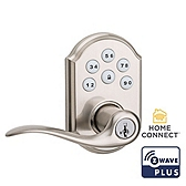 SmartCode Lever with Home Connect , Satin Nickel 912TNL TRL ZW500 15 SMT | Kwikset Door Hardware