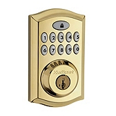 SmartCode Deadbolt , Lifetime Polished Brass 913TRL L03 UL | Kwikset Door Hardware