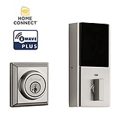 Contemporary Deadbolt with Home Connect, 2nd Gen  , Satin Nickel 914 S 2 CNT  ZW500 15 | Kwikset Door Hardware