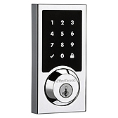 915 Contemporary SmartCode Deadbolt , Polished Chrome 915CNT 26 | Kwikset Door Hardware