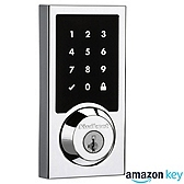 SmartCode 916 Contemporary Deadbolt Amazon Key Edition , Satin Nickel 916CNT AMZ 15 SMT | Kwikset Door Hardware