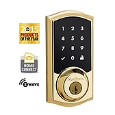 SmartCode Deadbolt  , Lifetime Polished Brass 916TRL ZW L03 UL | Kwikset Door Hardware