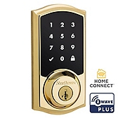 SmartCode Deadbolt  , Lifetime Polished Brass 916TRL ZW500 L03 UL | Kwikset Door Hardware
