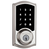 Premis Apple HomeKit™ Smart Lock  , Satin Nickel 919TRL 15 SMT | Kwikset Door Hardware