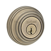 980/985 Deadbolt , Antique Brass 985 5 SMT | Kwikset Door Hardware