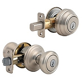 Cameron Combo Pack , Satin Nickel 991CN 15 SMT | Kwikset Door Hardware