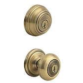 Juno Combo Pack  , Antique Brass 991J 5 SMT | Kwikset Door Hardware