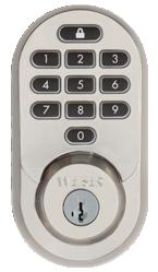 Weiser Halo Keypad Satin Nickel